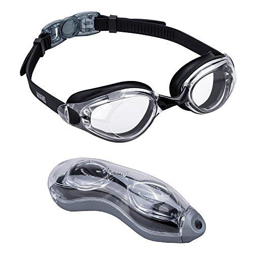 Aegend Schwimmbrille, Schwimmbrille kein Auslaufen Anti Nebel UV-Schutz Triathlon Schwimmen Brillen mit Schutz für Erwachsene Männer Frauen Youth Kinder Kind Einheitsgröße Clear Lenses