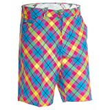 Royal & Awesome Herren Golf Shorts, Trippy Tartan, 40
