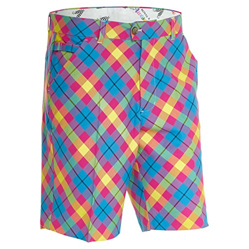 pantaloni-corti-da-golf-royal-awesome-da-uomo-trippy-tartan
