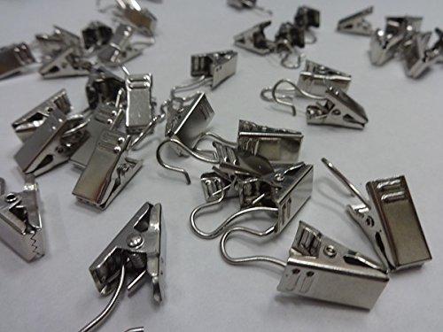 20 Qté : Nickel satiné Draperie Clips Anneaux pour toutes les Bagues de Draperie