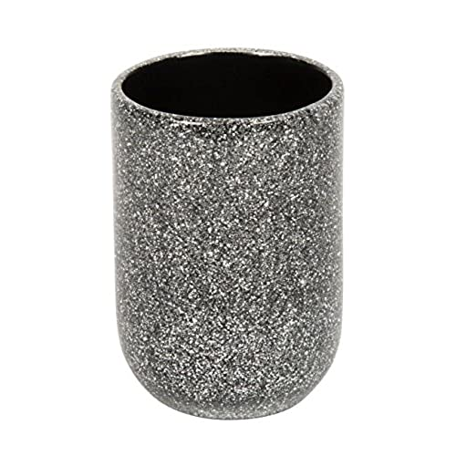 silver sparkle bathroom accessories. Croydex Silver Glitter Round Free Standing Tumbler Bathroom Accessories  Amazon Co Uk