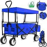 Kesser® Bollerwagen faltbar mit Dach Handwagen Transportkarre Gerätewagen |...