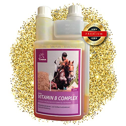 EMMA ♥ Vitamin B Komplex für Pferde I B-Vitamin & Mineralstoffe I Unterstützung Nervensystem, Stoffwechsel & Immunsystem I 8 B VIT hochdosiert I Vitamin B 12 Antistress 1