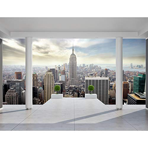 Fototapeten New York 352 x 250 cm Vlies Wand Tapete Wohnzimmer Schlafzimmer Büro Flur Dekoration Wandbilder XXL Moderne Wanddeko - 100% MADE IN GERMANY - NY Stadt City Runa Tapeten 9204011a
