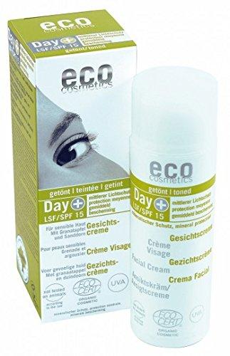eco cosmetics LSF 15 Gesichtscreme, getönte Tagescreme - 1er Pack (1 x 50 ml)