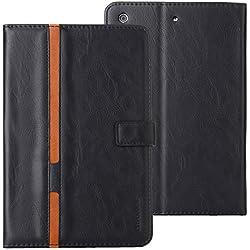Schutzhülle für iPad, magnetisches Flip-Cover aus PU-Leder, Rückseite aus Silikon, Schmetterlings- und Blumenmuster, Standhülle mit Kartenfächern