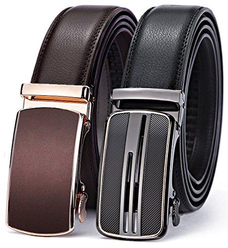 BULLIANT Gürtel Herren,Leder Automatik Gürtel für Männer Kleidung 35MM,Größe Angepasst