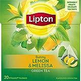 Lipton Grüner Tee Zitrone Melisse Pyramidenbeutel 20 Stück