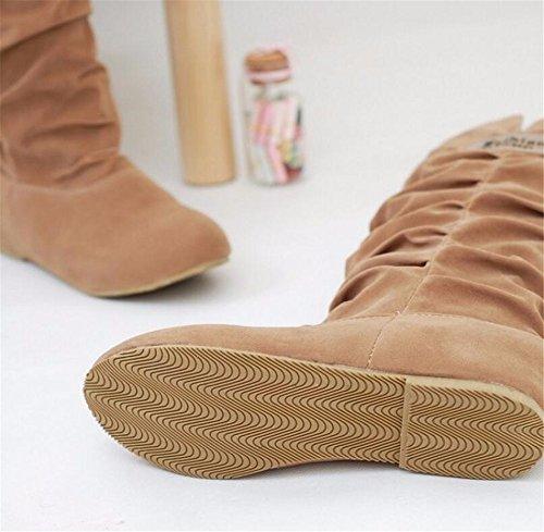 DFW- Weibliche Schuhe Stiefel, Stivali da escursionismo donna Giallo