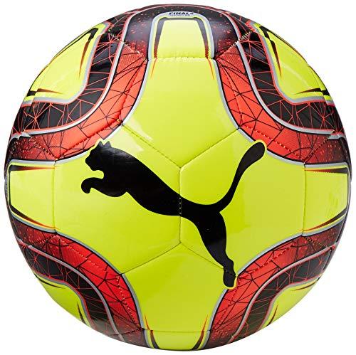 Puma FINAL 6 MS Trainer Fußball, Fizzy Yellow/Red Blast Black, 5