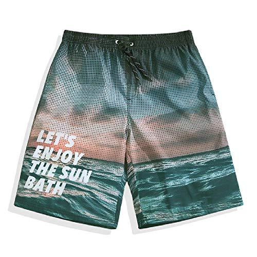 GERPY Strandhose Speed Dry-Badehose für Herren und Damen für Paare Shorts am Meer Flachwinkel-Surfhose Ausgefallene Hose