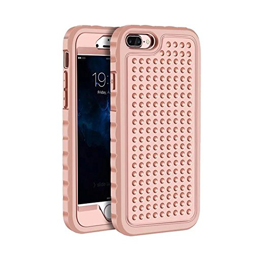 iPhone 7 Plus Coque,Lantier Rugged Design unique antidérapant Antichoc 3 en 1 Housse de protection pour iPhone 7 Plus 5.5 inch Gris+Vert menthe Rose Gold