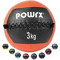 Wall Ball Balón Medicinal 2 - 10 kg - Ideal para los ejercicios de Functional Fitness - (3 kg / Naranja)