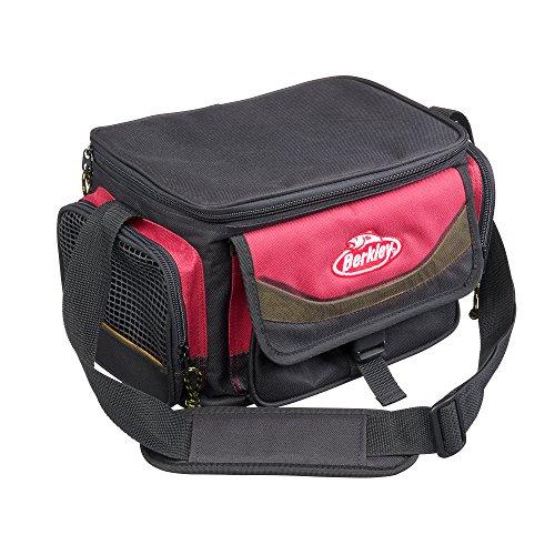 BERKLEY TASCHEN MIT KÖDERBOXEN System Bag Red-Black + 4 boxes