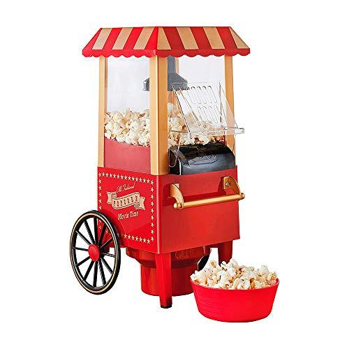 """Retro Popcorn Maker Maschine, NBWS Automatische Popcornmaschine, Heissluft Ohne Fett Fettfrei Ölfrei Profi-Retro-Popcorn-Maschine\""""Cinema\"""", 0.27 L, 1200 W, Red"""