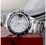 pedgeo (TM) NEU Hohe Qualität Herren Kleid Quarzuhr Fashion Marke SKONE Analog Datum Arbeit Full Stahl Armbanduhr Casual Armbanduhr Wasserdicht