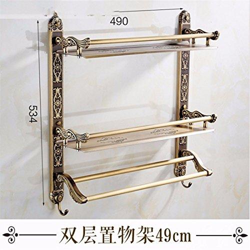 AiRobin-Continental Messing Retro Geschnitzte Wand Badezimmer Badezimmer Regale Badezimmer Zubehör