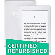 "Certified Refurbished Kindle Paperwhite, 6"" High Resolution Display (300 ppi) with Built-in Light, Wi-Fi - White"