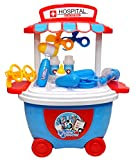 #7: Toyshine Bucket Cum Trolley Doctor Set Play Cart Pretend Play Set Toy, Blue