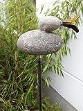 Zen Man Metallo ruggine Giardino Spina ruggine Giardino Scultura in Pietra Giardino Figura a Mano H120 x 16 x 8 cm 101584