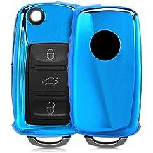 kwmobile Funda para Llave de 2-3 Botones para Coche VW Skoda Seat - Carcasa