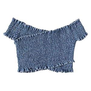 HWTOP Bandeau Damenmode Unterwäsche Ärmellos Sexy Trägerlose Crop Top Weste Atmungsaktive Boob Tube