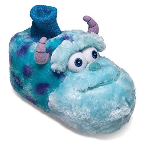 SAMs Disney Monster AG Sulley Kinder Plüsch Hausschuhe Anti Rutsch Sullivan Schlappen Pantoffel 22-28, TH-Monster-Sullivan Blau