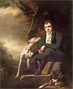 Poster 40 x 50 cm: Portrait of Sir Walter Scott and his dogs by Henry Raeburn / Bridgeman Art Library - high quality art print, new art poster