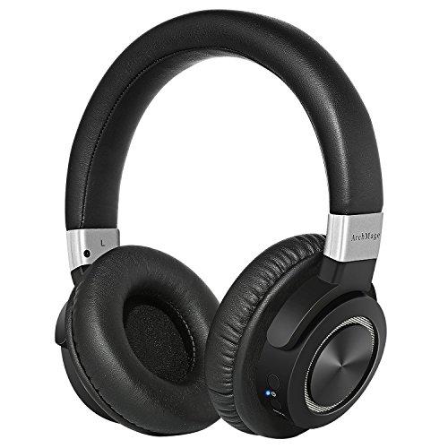 Kopfhörer 4.2 Bluetooth Kabellos von ArchMage | Over-ear mit Mikrofon | Drahtlose Headset für iPhone Fernseher Handy Smartphone Tablet | 50 Stunden Batterie | Tragetasche inklusive