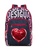 Desigual Moch_pinapple, Girls' Backpack, Blue (Denim Raw), 13x39.5x31 cm (B x H T)