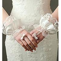 DuZiShi Guantes de novia/Encaje Raso/pulsera longitud/dedos Esposti/cadena de