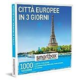 SMARTBOX - Città europee in 3 giorni -  Cofanetto Regalo Soggiorni   - 2 notti con prima colazione per 2 persone