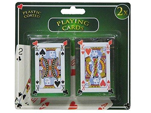 COOLMP 1x - Lot de 2 Jeux de 54 Cartes plastifiées