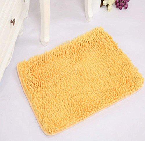 CLLCR Wohnzimmer Matten-Fußmatte/Fussauflage / Fußmatte/Dicke Chenille-Matte/Wasserabsorption Bad Anti-Mat,EIN,50X80Cm (20X31Inch) -