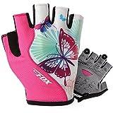 BatFox guantes de las mujeres las niñas guantes de ciclismo deportes al aire libre guantes mtb guantes Gel bicicleta guantes de fitness, color Short fingers, tamaño mediano