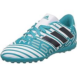 adidas Nemeziz Messi 17.4 Tf J, Botas de Fútbol Unisex Niños, Varios Colores (Ftwbla/Tinley/Azuene), 31 EU
