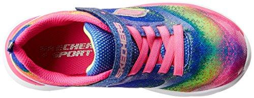 Skechers Pepsters Bling Brite, Scarpe Da Ginnastica Basse Da Ragazza Rosa (Neon Pink/Multi)