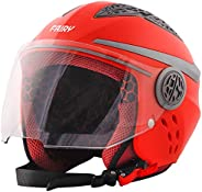 Steelbird Fairy Specially Designed ISI Certified Helmet Fitted Clear Visor and Extra Smoke Visor for Sun Prote