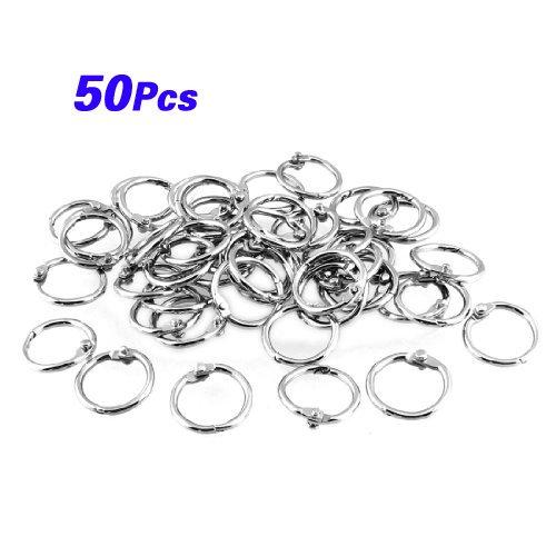 sodial-r-50-pz-staple-libro-binder-20-millimetri-diametro-esterno-fogli-intercambiabili-anello-porta
