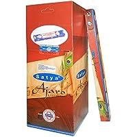 Preisvergleich für Räucherstäbchen 250g Satya Ajaro Grosspackung 25 Schachteln zu je 10g Nag Champa Duftsorte Wohnaccessoire Raumduft