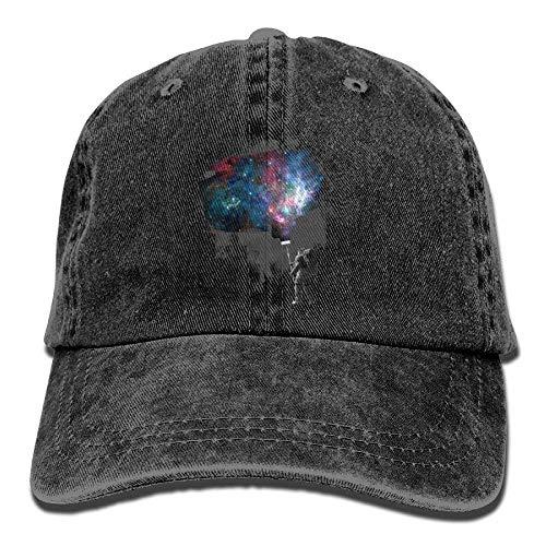 Preisvergleich Produktbild Presock Astronauts Paint Galaxy Denim Hat Adjustable Female Fitted Baseball Caps