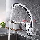 ALTON Brass Single Lever Sink Mixer with 360 Swivel Spout/Deck Mounted Faucet, Taps