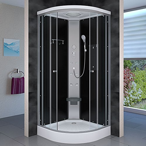 AcquaVapore DTP10-1300 Dusche Duschtempel Duschkabine Fertigdusche 90x90, EasyClean Versiegelung der Scheiben:2K Scheiben Versiegelung +79.-EUR
