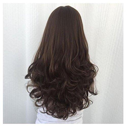lange Haare große Welle Hochtemperatur -Draht Chemical Fiber Perücke Frisur , maroon (Nicht Mainstream Halloween Kostüme)
