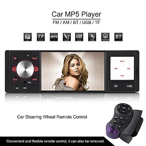 """Qiilu 4"""" DVD 1080P HD Autoradio avec Wince Système et"""