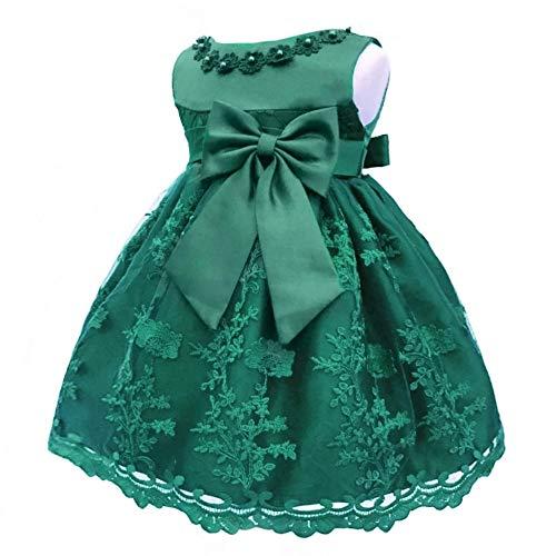 KINDOYO Baby Mädchen Kleid - Baby Neugeborene Mädchen Festzug Geburtstag Party Nette Hübsche Prinzessin Kleider Für 0-2 Jahre, Dunkelgrün, 12M (Hübsche Prinzessin Kostüm)