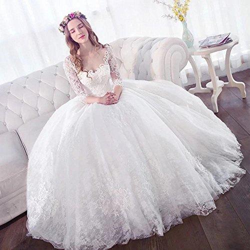 ZPD One-Shoulder Wedding Dress Bride Schlank Einfach Abnehmen Frühling Sommer...