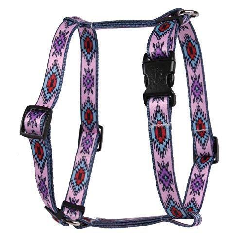 Hundegeschirr, Design Indian Spirit Pink, römischer Stil H, Extra Large 28