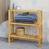 SoBuy® Estantería para baño, estantería de cocina, estantería para zapato, estantería de pared, FRG145-N, ES