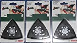 3 Stück BOSCH Schleifplatte 2609256956 OIS AVI 93 G, 93mm Multifunktionswerkzeuge GOP, PMF, Fein Makita